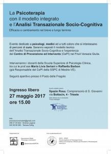 La psicoterapia con il modello integrato e l'ATSC - Trieste 27.05.17